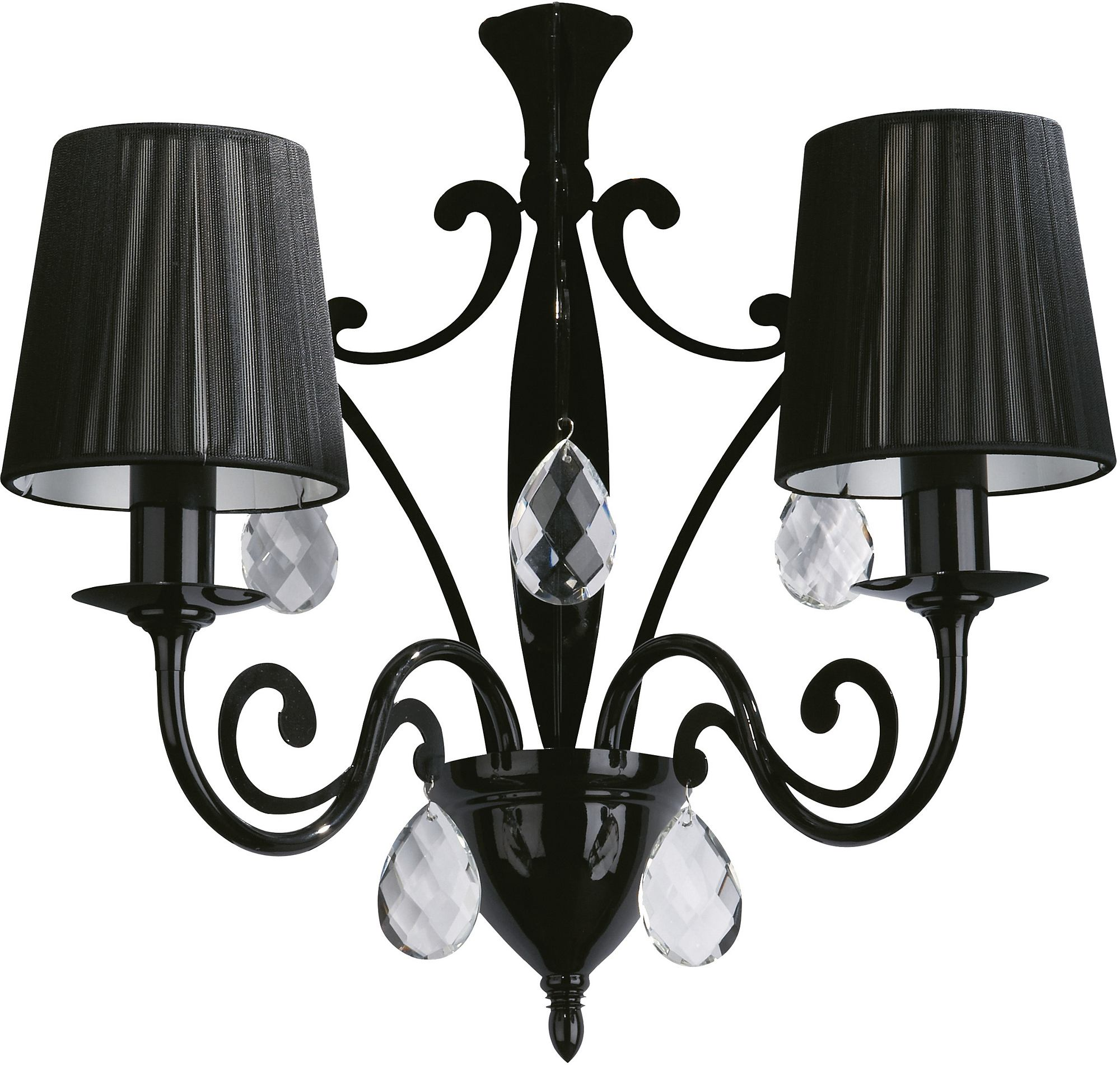- Roomstylers 36682 Black wall lamp