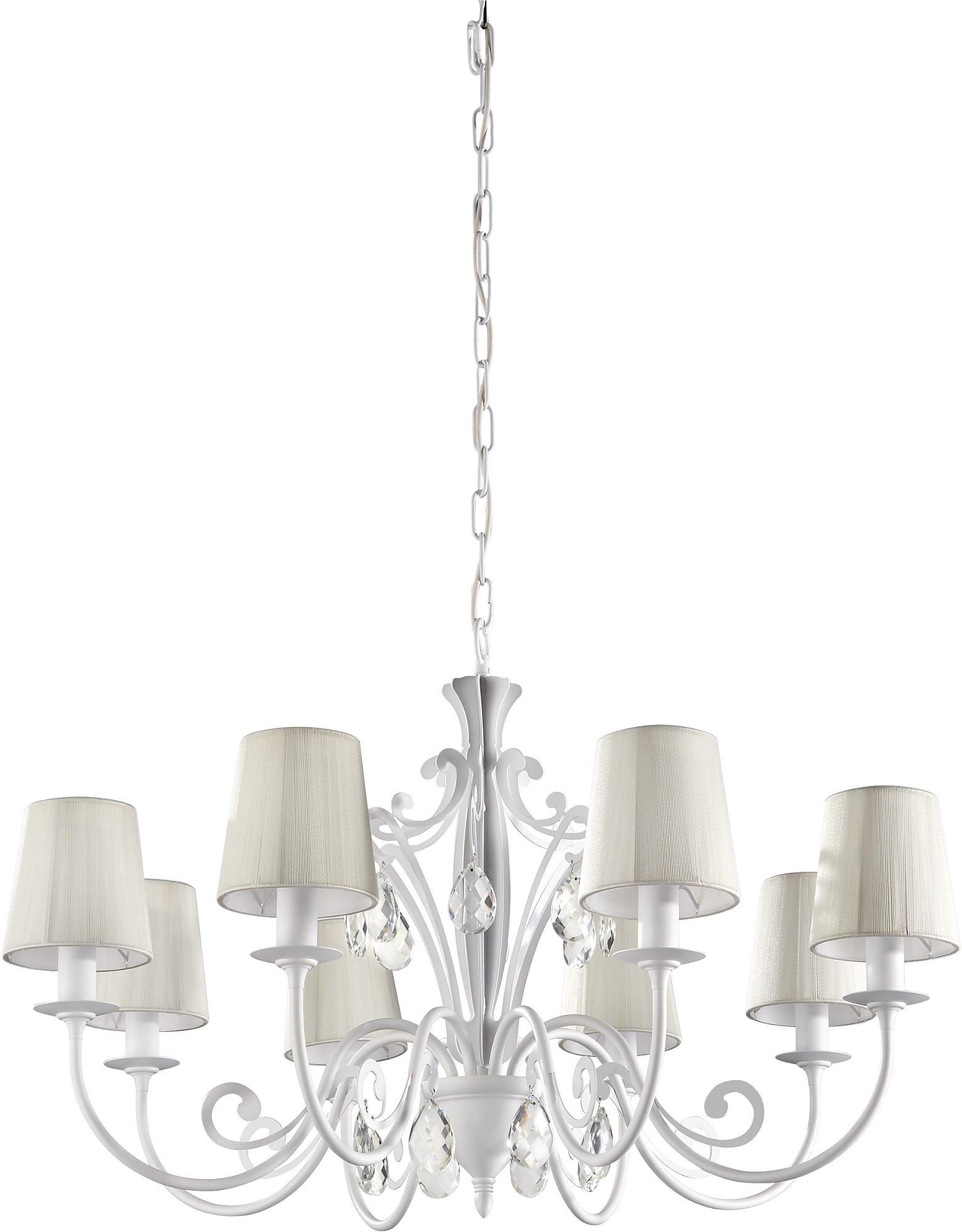 -Roomstylers 36681 White Pendant Crystal