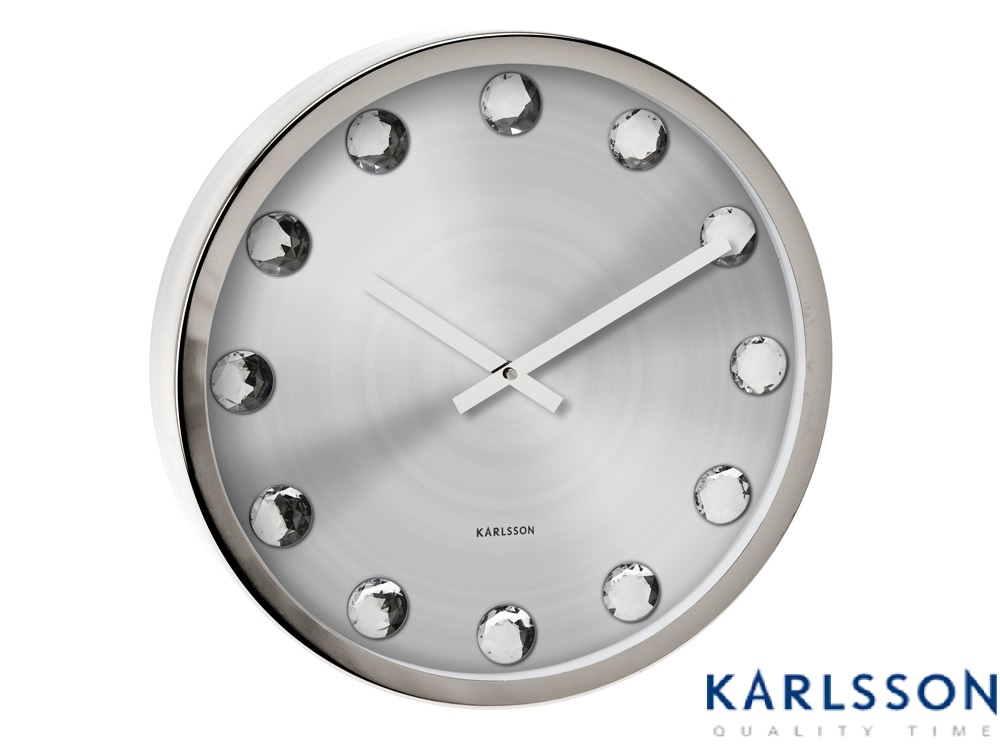 - KA4618 - Wall Clock Big Diamond Steel