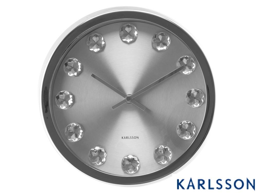 - KA5192 - Wall Clock Medium Diamond Nickel