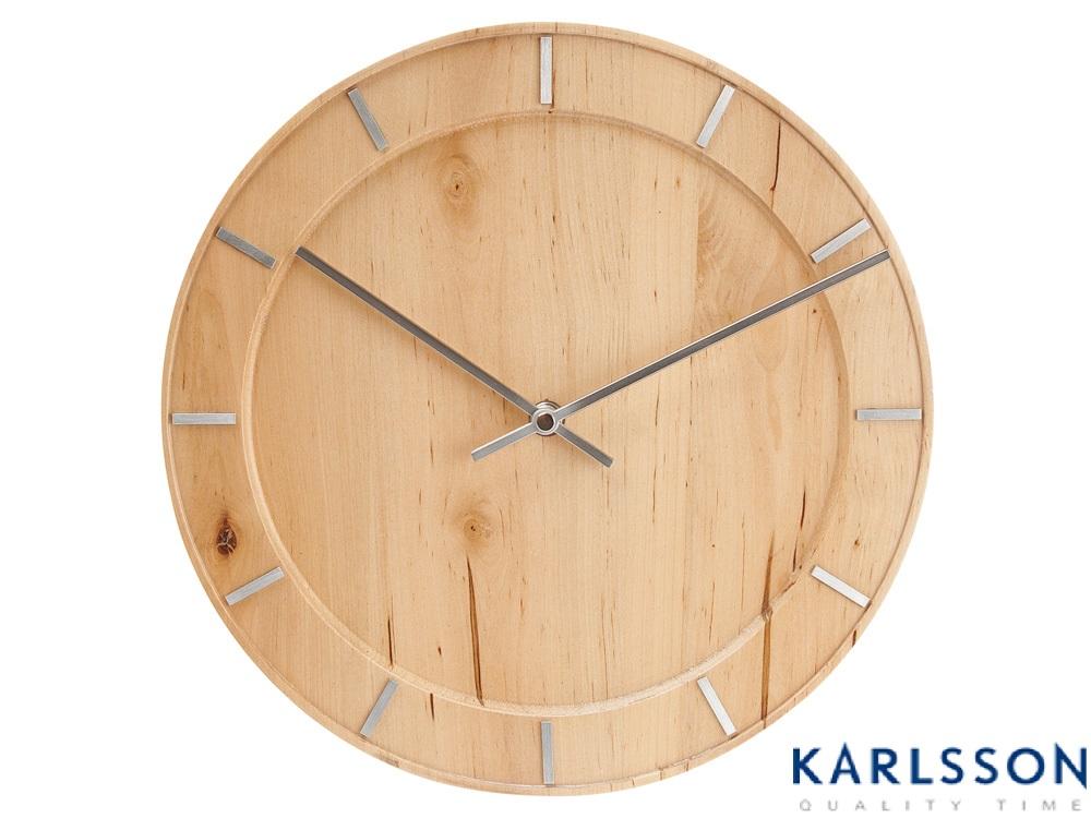 - KA5400 - Wall Clock Pure Natural Wood