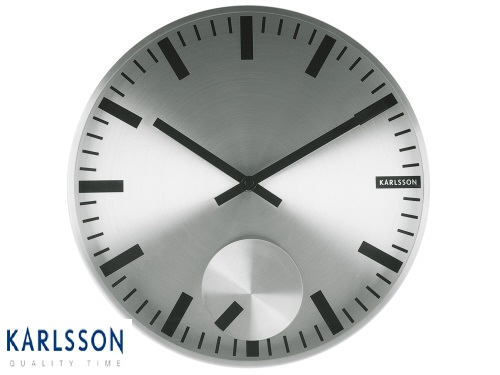 - KA5254SI - Wall Clock Moving Index Silver Case