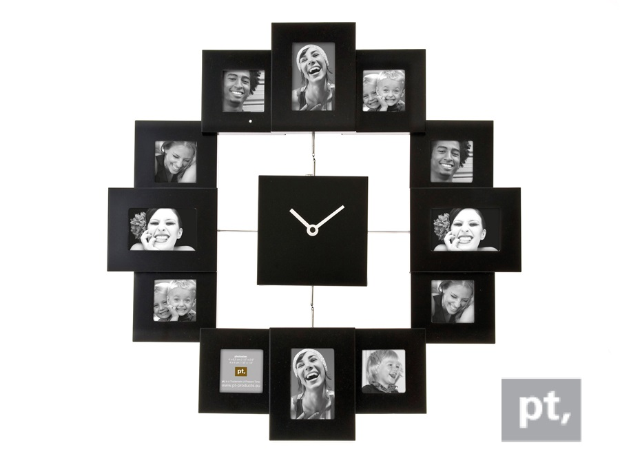 - HM0347BK - Photo Frame Clock Family Time Black