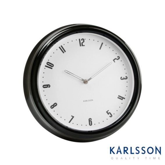 -KA5351-Retro Station Metal Black-Wall Clock