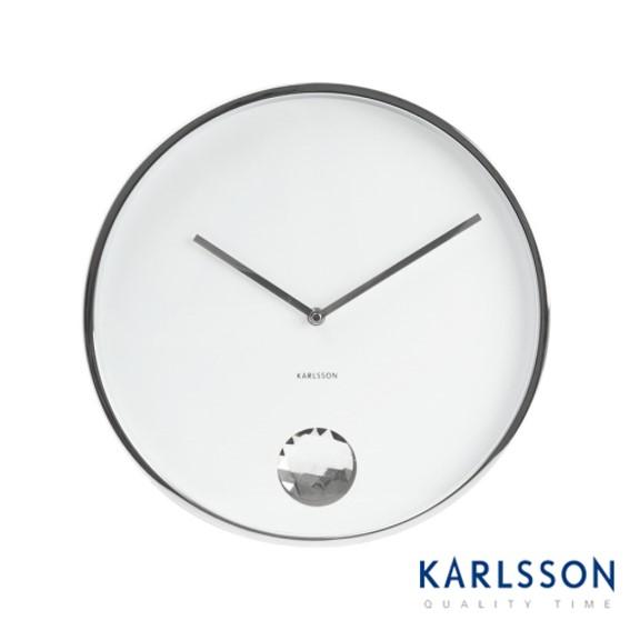 -KA5334WH-Swinging Diamond White-Wall Clock