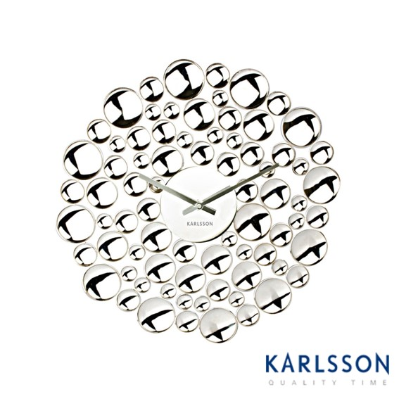 -KA5237-Bubble Steel Chrome-Wall Clock