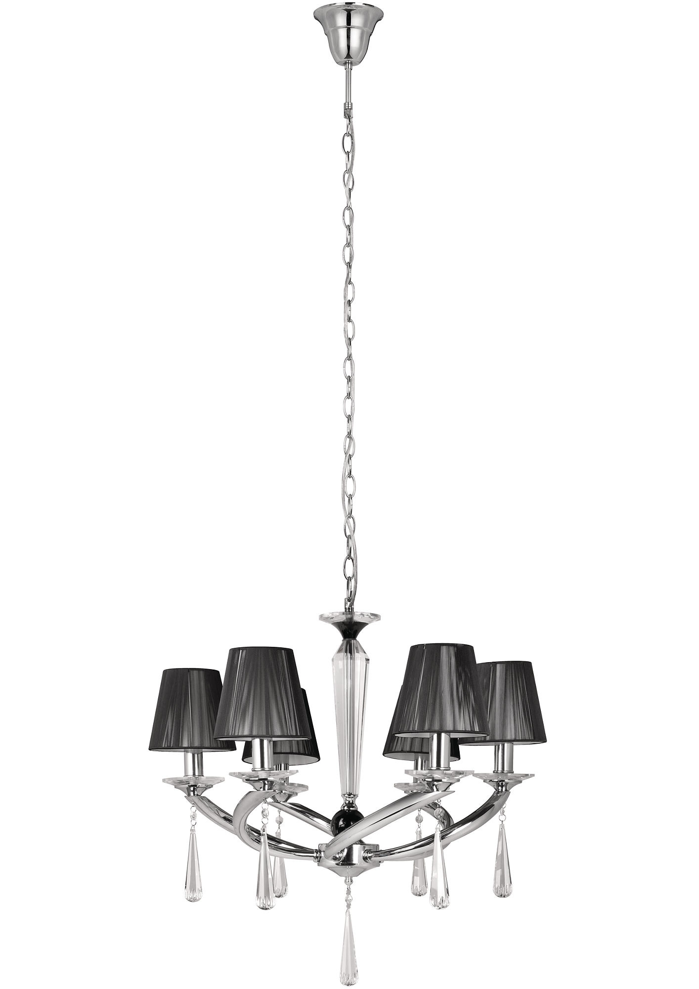 -My Living-30699 Crystal Black Pendant Lamp