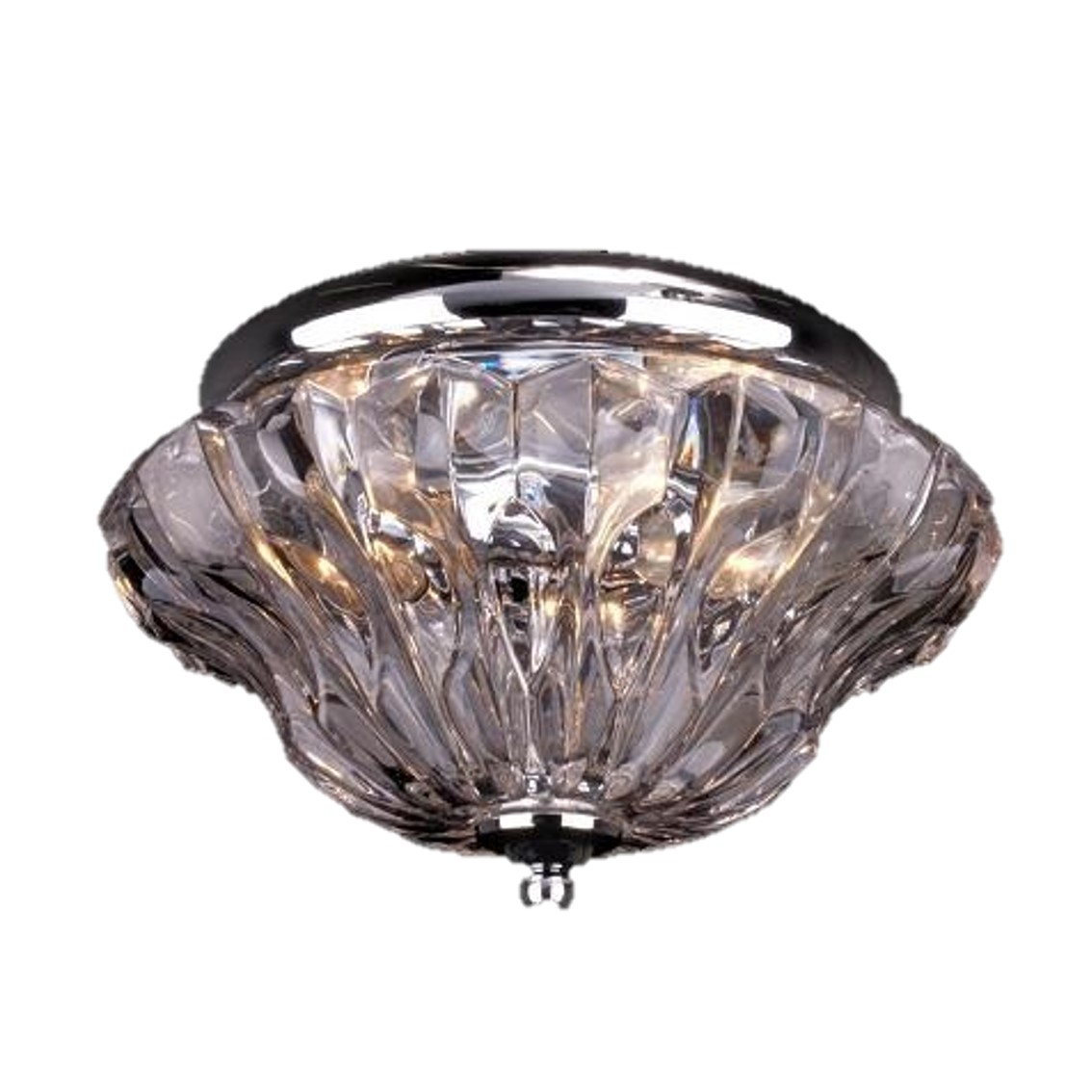 -TTSC630162-25CM-Plum Crystal/ Brown Ceiling
