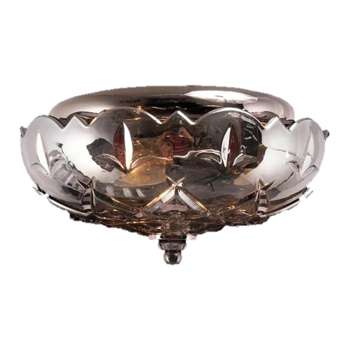 -TTSC630167-25CM-Spade Crystal/ Brown Ceiling