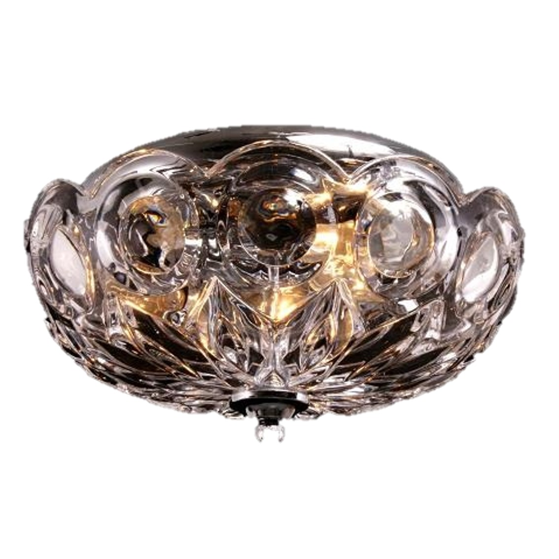 -TTSC630172-25CM-Crown Crystal/ Brown Ceiling