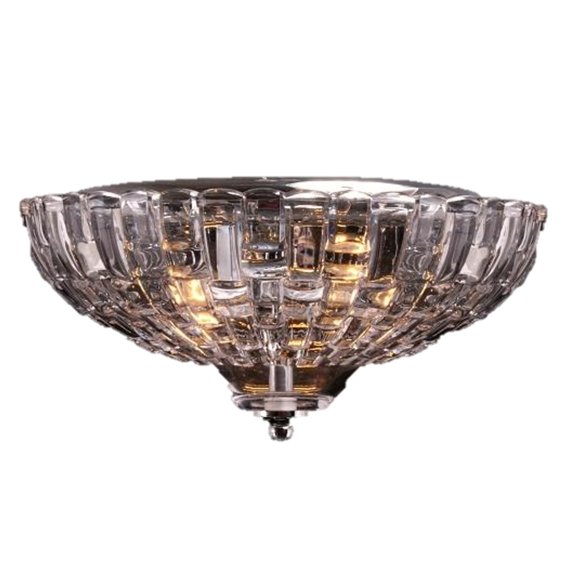 -TTSC630168-30CM-Pyramid Crystal/ Brown Ceiling