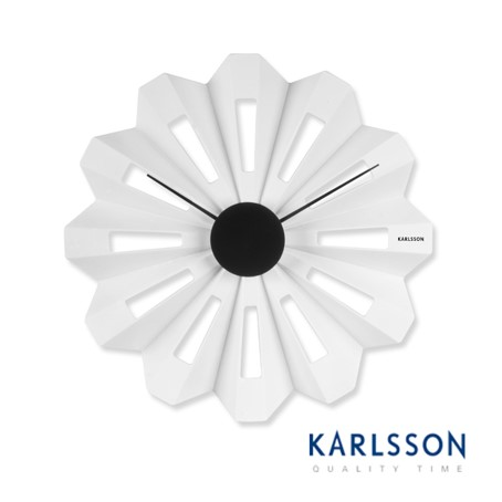 KA5339WH-Lotus Flower Plastic White-Wall Clock