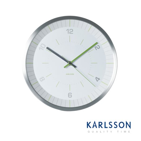 KA5431-Bright Line Green Wall Clock