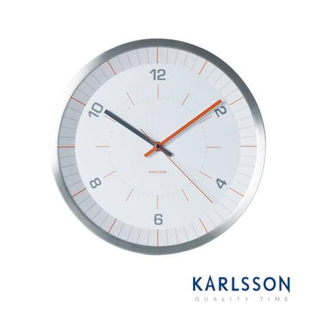 KA5433-Bright Line Orange Wall Clock