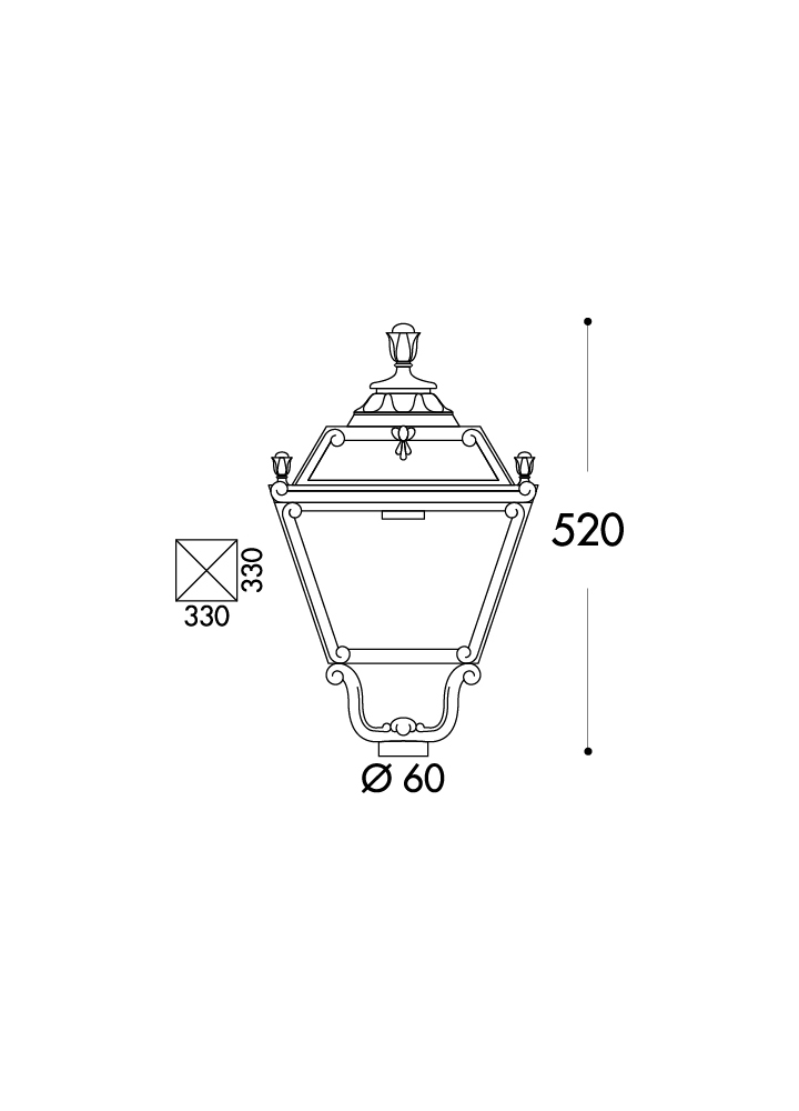 q33 157 tobia large pole lamp ip55