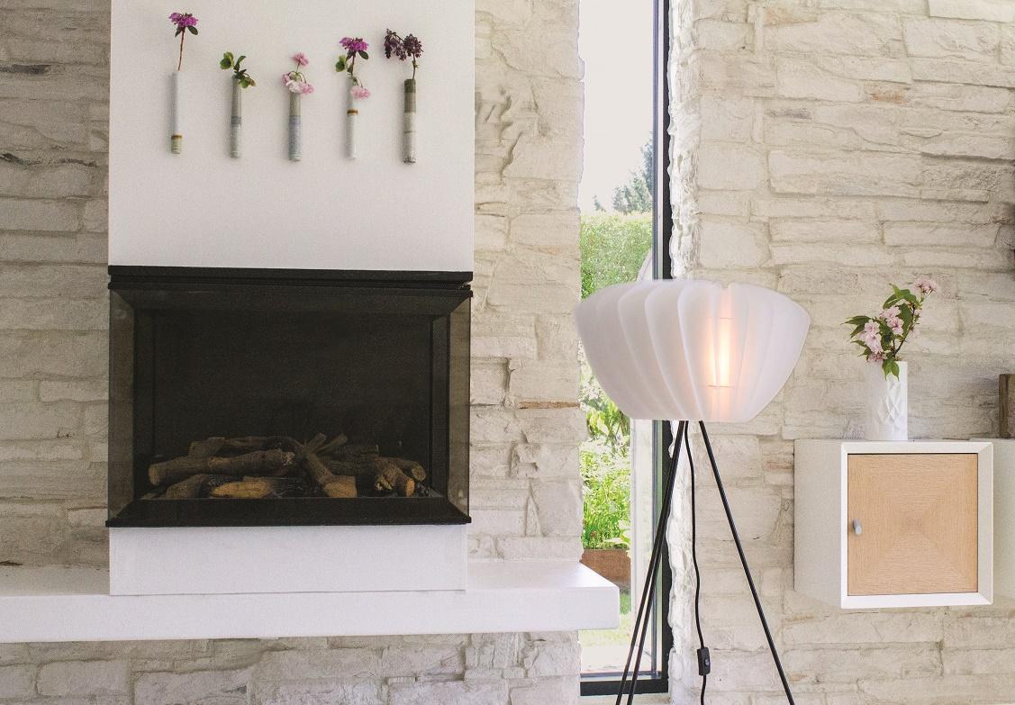02039+04015 Facetta White DIY White Tripod Floor Lamp *需自行 ...