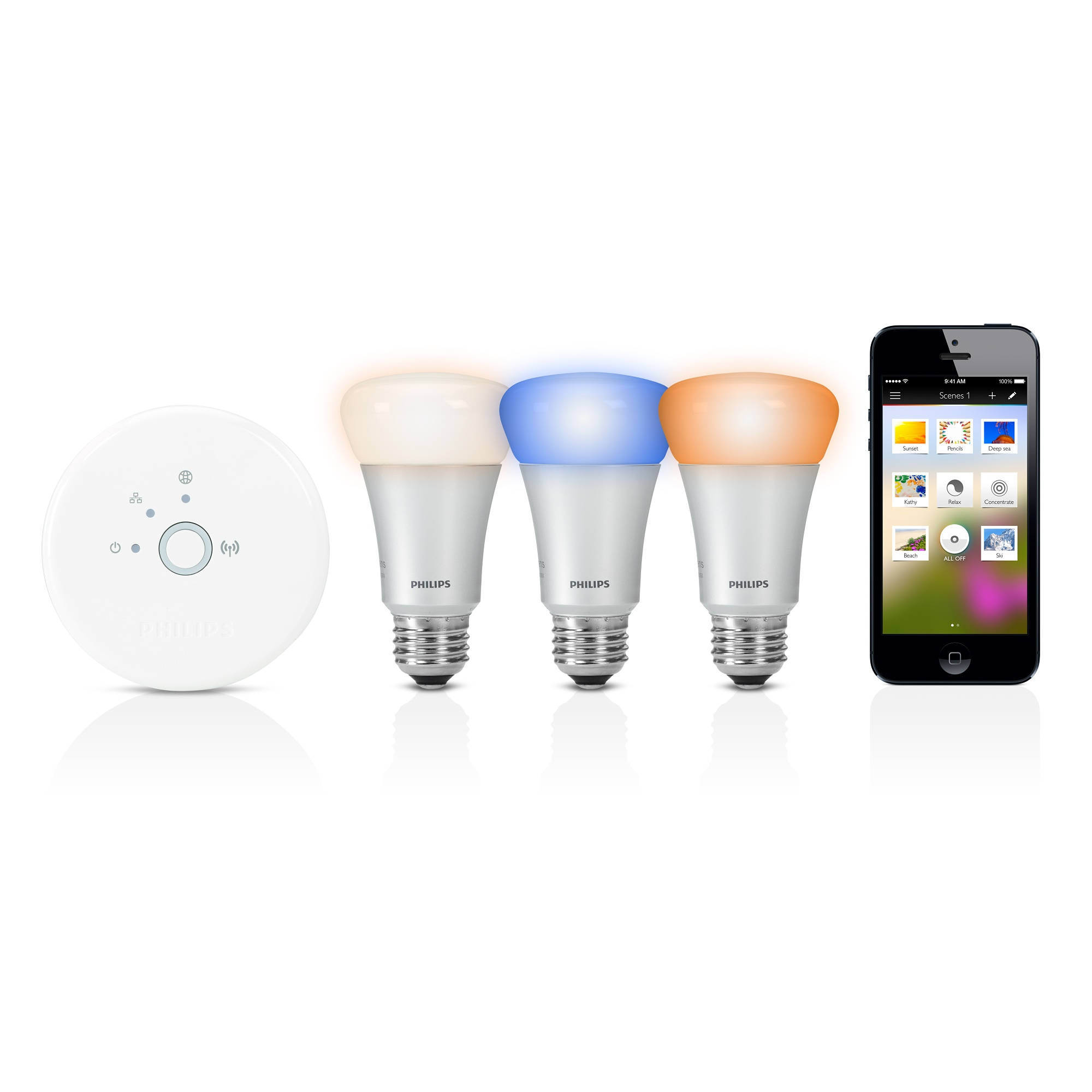 philips hue starter pack wifi bridge 3 hue led bulbs discontinued trilight zone. Black Bedroom Furniture Sets. Home Design Ideas