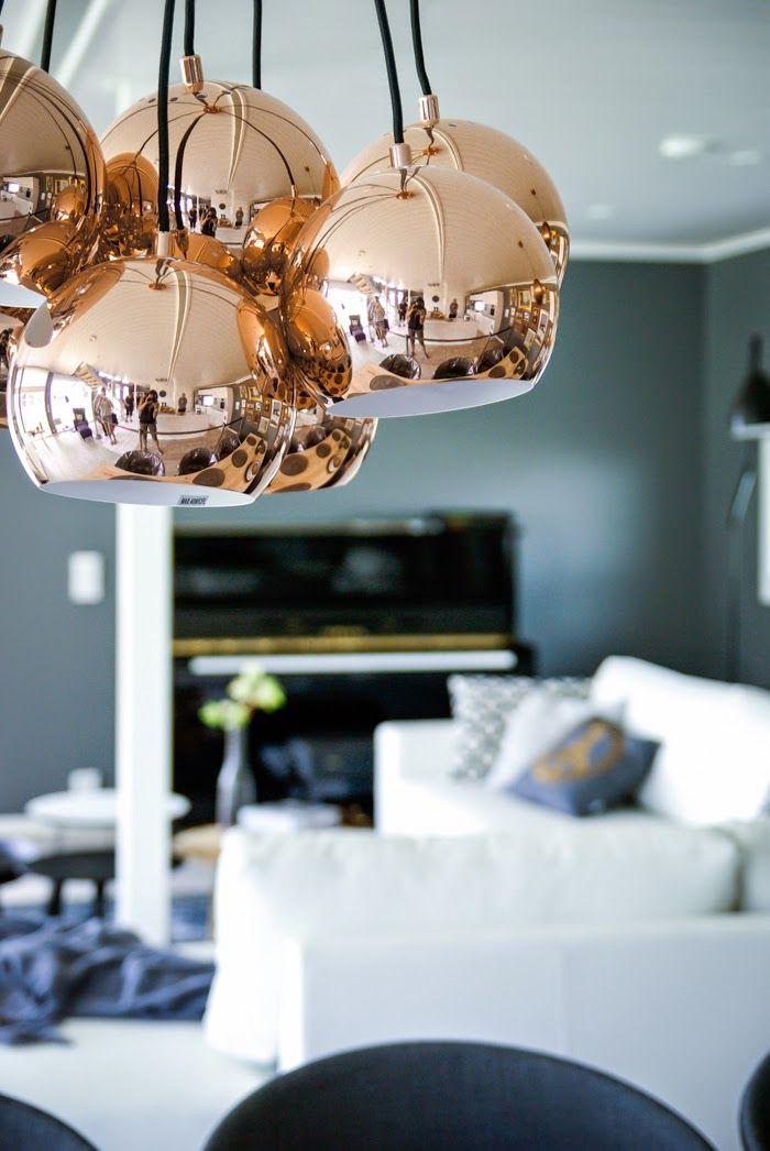 Franssen Ball Copper Multi Pendant Light