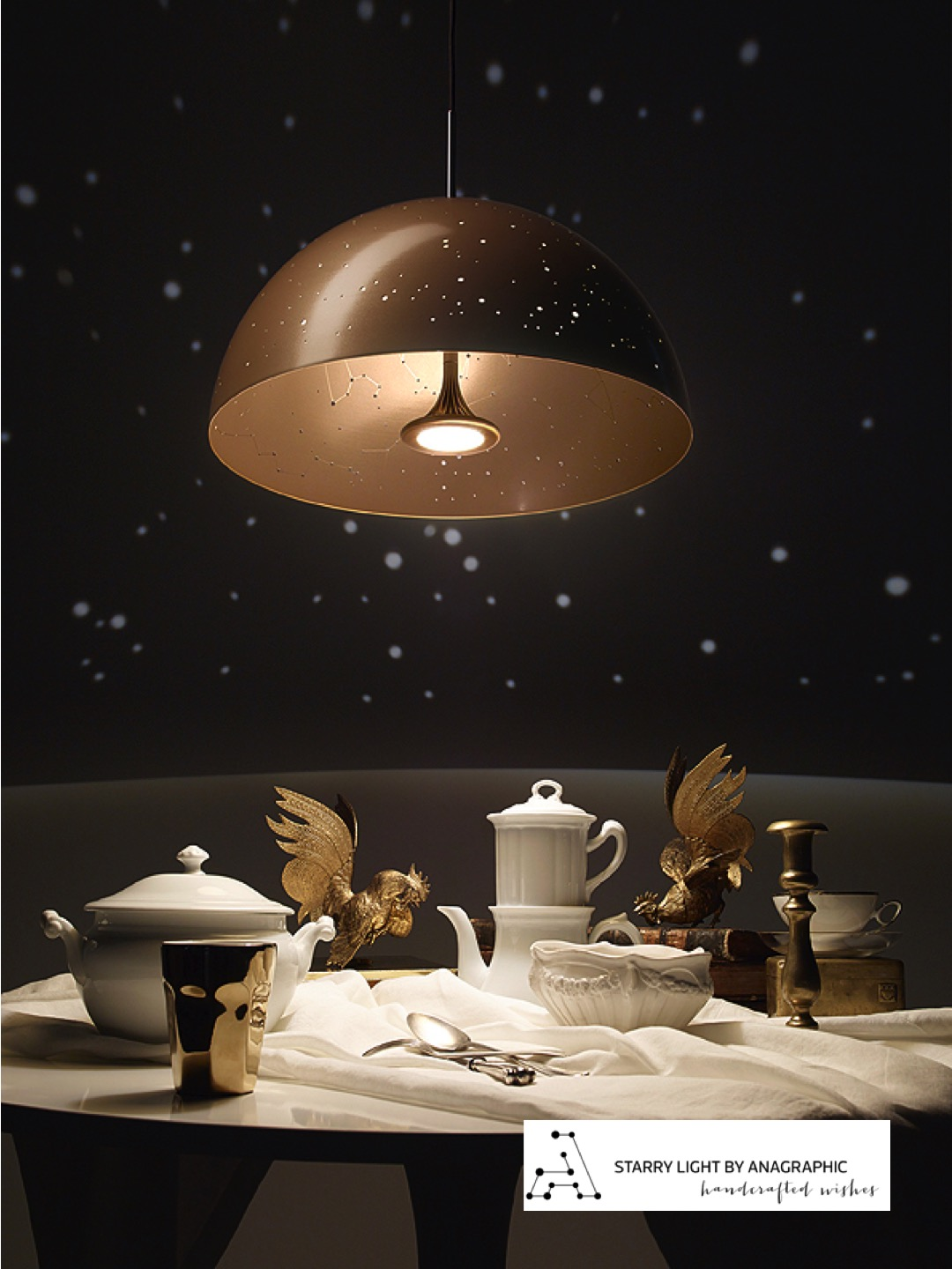 Starrylight Pendant Lamp in Gold
