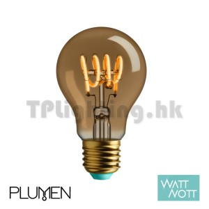 Plumen Watt Nott Whirly Wanda Gold LED A60 Filament