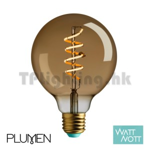 Plumen Watt Nott Whirly Wyatt Gold LED G95 Filament