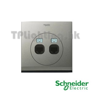 schneider ulti 2 gang tel and data socket rj45 cat6 -udc32td_xbs