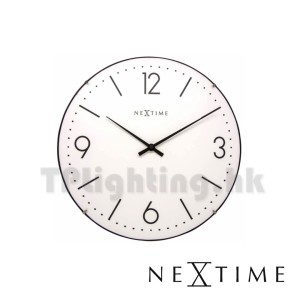 3157WI white Basic Dome 35cm wall clock nextime