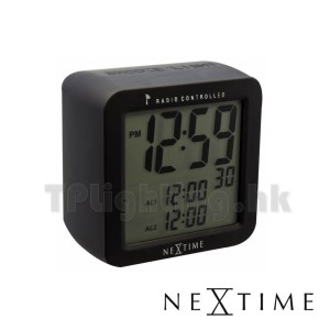 5201ZW square alarm clock matt black