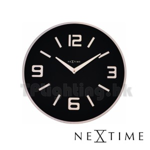8148ZW 43cm shown black wall clock