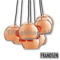frandsen ball multi gloosy copper pendant lamp