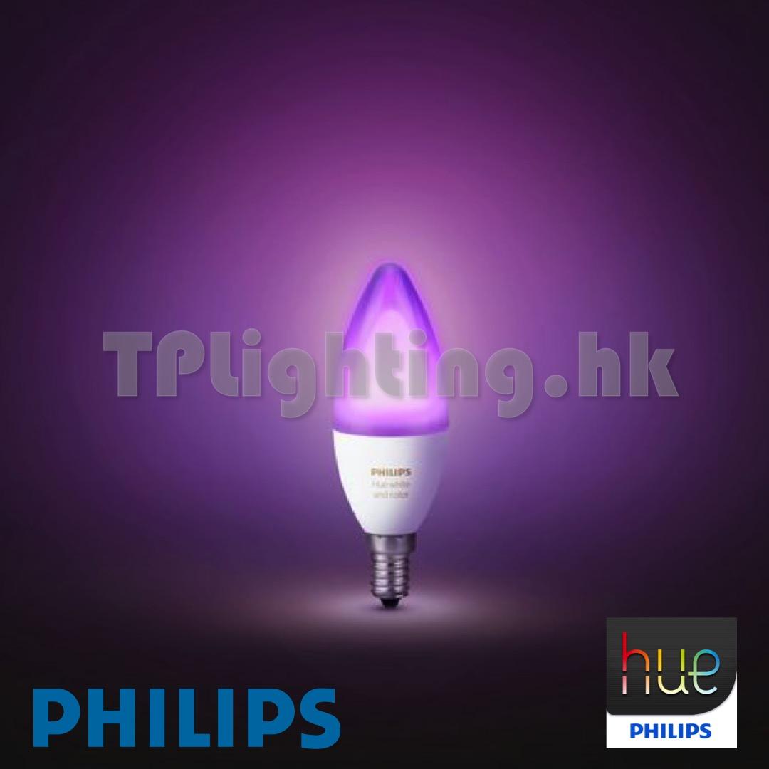 Philips Hue E14.Philips Hue 6w Led E14 Rgb 22k 65k Color 紅綠燈燈飾開倉trilight