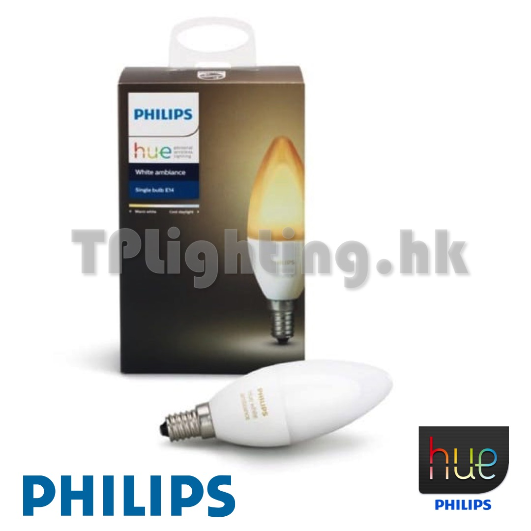 philips hue 6w led e14 22k 65k trilight zone lighting outlet. Black Bedroom Furniture Sets. Home Design Ideas