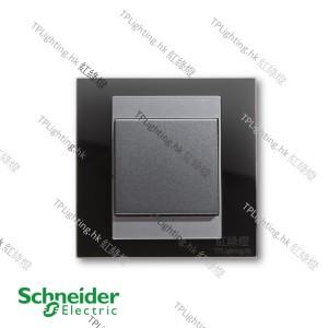 schneider unica 1 gang MGU3_261_BM black mirror