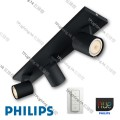 53093 runner black philips hue led ceiling light