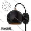 frandsen lighting denmark ball wall annivesary black gold