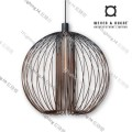 GLOBE_1.0_BLACK+RUST wever ducre suspension lighting