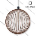 GLOBE_6.0_RUST wever ducre suspension lighting